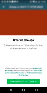 Catálogo de productos en WhatsApp